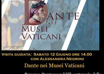 Mostra: Dante nei Musei Vaticani – Visita guidata sabato 12 Giugno ore 14