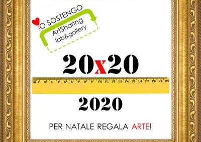 20×20 per Natale regala ARTE! La mostra solidale per sostenere ArtSharing roma