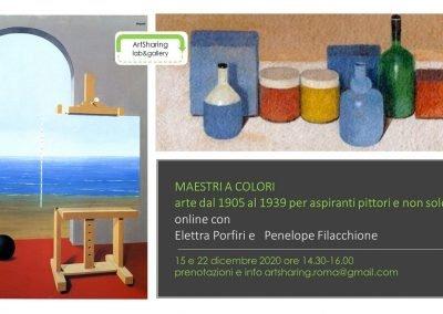 Maestri a colori: arte dal 1905 al 1939, online a due voci con Elettra Porfiri e Penelope.