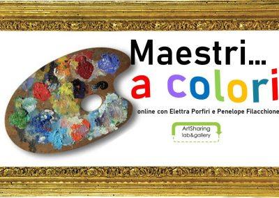 Maestri a colori: tre lezioni online per il dietro le quinte del disegno e della pittura