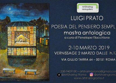 Luigi Prato – Poesia del pensiero semplice 2-10 marzo 2019